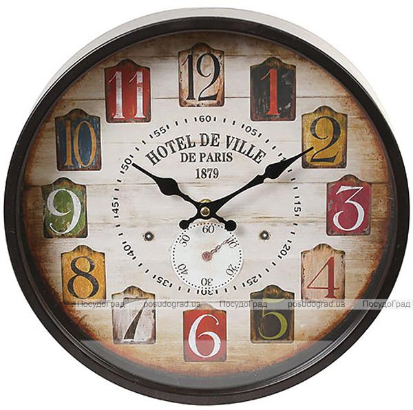 "Годинник настінний ретро ""Hotel de Ville"" Ø30см"