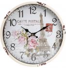 "Часы настенные ретро ""Carte Postale"" Ø30см"