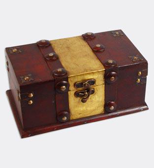 """Набор из двух деревянных шкатулок """"Сундучок Ковка"""", 25x14,5x11см и 20x10,5x8,5см"""