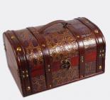 """Набор из двух деревянных шкатулок """"Сундучок Саквояж"""", 34x23x19см и 30x17x13см"""