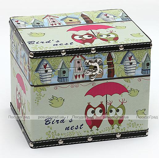 "Деревянная шкатулка ""Стефани Owls Mini"", 24x20x20см"