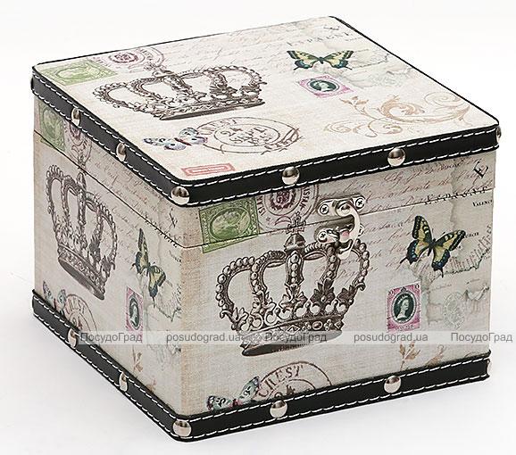 "Деревянная шкатулка ""Стефани Crown"", 18x18x14см"