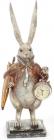 """Фигурка декоративная с часами """"Белый Кролик в медном кафтане"""" 39см"""