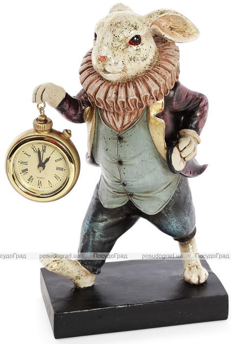 """Статуетка з годинником """"Кролик в піджаку"""" 15х10х24см"""