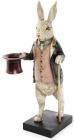 """Статуетка-свічник """"Кролик з тростиною"""" 16.5х14х34см"""