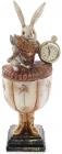 """Фігурка-шкатулка декоративна """"Білий Кролик з годинником"""" 14х13х35см"""