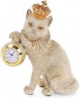"""Фігурка декоративна з годинником """"Королівський Кот"""" 15х8х17.5см"""