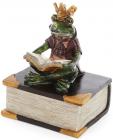 """Фігурка декоративна """"Принц Жабеня з книгою"""" 19см"""