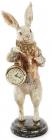 """Фігурка декоративна з годинником """"Білий Кролик в мідному жупані"""" 34.5см"""