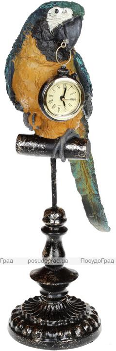"""Статуетка з годинником """"Папуга"""" 19х12х40.5см"""
