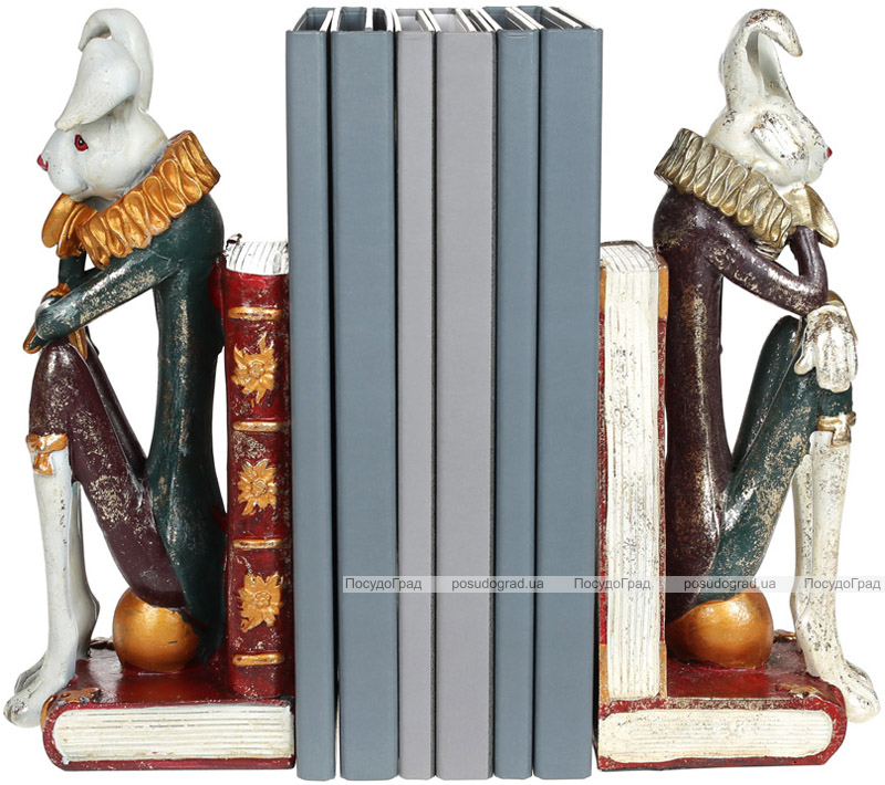 """Декоративный держатель для книг """"Белый Кролик"""" 25х10.5х30.5см"""