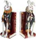 """Декоративний тримач для книг """"Білий Кролик"""" 25х10.5х30.5см"""