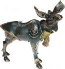 """Декоративна статуетка """"Лось в смарагдовому піджаку"""" 30х15.5х27см"""