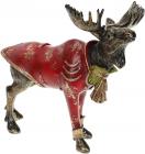 """Декоративна статуетка """"Лось в червоному піджаку"""" 30х15.5х27см"""