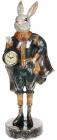 "Статуетка з годинником ""Кролик в смарагдовому костюмі"" 19.5х16х44см"