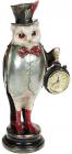 """Статуетка з годинником """"Мудра Сова"""" 12х9.5х29.5см"""