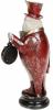 """Статуетка з годинником """"Сова в червоному смокінгу"""" 12х9.5х29.5см"""