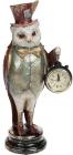 """Статуэтка с часами """"Сова в красном смокинге"""" 12х9.5х29.5см"""