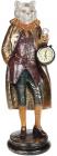"""Статуетка з годинником """"Кіт в золотом пальті"""" 14.5х14.5х41.5см"""