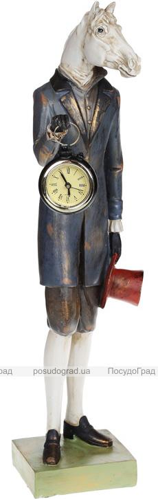 """Статуетка з годинником """"Кінь в пальті"""" 13х13.5х48см"""