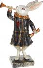 """Декоративна статуетка """"Кролик з дудкою"""" 18х9.5х28см, в синьому"""