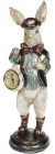 """Статуетка з годинником """"Кролик в капелюшку"""" 12х10х30см"""