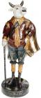 Фигурка декоративная «Бык с тростью» в красном 16х12.5х38см, полистоун