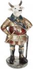 Статуетка декоративна «Бик з тростиною» 11х8х21.5см, бронза з червоним