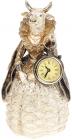Статуетка декоративна з годинником «Дама Корова» у синій накидці 12.5х11.5х24см
