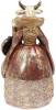 Статуетка декоративна з годинником «Дама Корова» у червоній накидці 12.5х11.5х24см