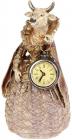 Статуэтка декоративная с часами «Дама Корова» в красной накидке 12.5х11.5х24см