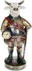 Фігурка декоративна з годинником «Бик» 18х15.5х41см, синій з золотом