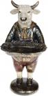 Статуэтка декоративная «Бык с подносом» в красном жилете 16х14х30см