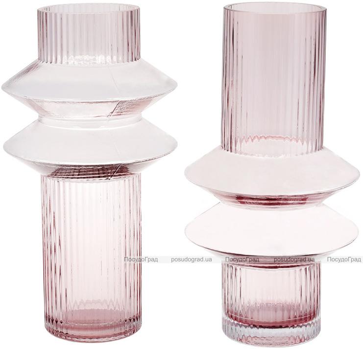Ваза Ariadne «Далиа»-II 29см, розовое стекло