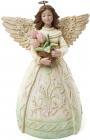 """Статуетка декоративна """"Ангел з тюльпанами"""" 14х10.5х20см"""