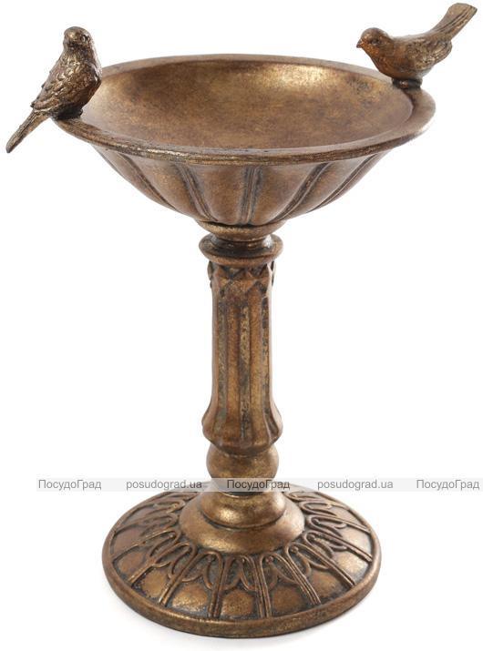 Декоративна чаша-ємнісь для солодощів Tabitha 25х20.5х32см, бронза