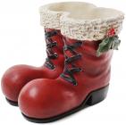 "Кашпо декоративное ""Красные ботинки"" 26х22х21см"