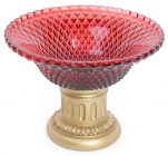 """Цукерниця """"Adeola"""" Ø25.8см зі скляною чашею, рубін"""