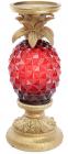 """Підсвічник декоративний """"Adeola"""" Ананас 14.7х14.7х32.5см з LED-підсвіткою, рубін"""
