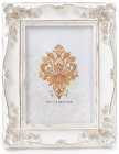 """Фоторамка Tudor """"Троянди"""" для фото 12.5х17.5см (білий із золотом)"""