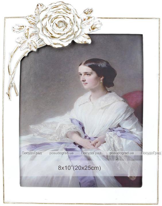 Фоторамка Viljandi «Rose Flower» White для фото 20х25см, полистоун