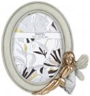 Фоторамка Viljandi «Фея» Mint&Gold для фото 13х18см овальная, полистоун