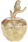 "Шкатулка для украшений ""Saaling"" Яблоко 10х10х14см, золото"