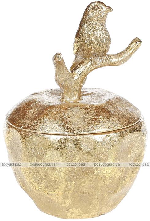 """Шкатулка для прикрас """"Saaling"""" Яблуко 10х10х14см, золото"""