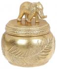 """Шкатулка для прикрас """"Індія"""" 11.5х11.5х12.5см, золото"""