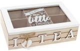 """Коробка-шкатулка """"I Love Tea"""" для чая и сахара 6-ти секционная 24x16x7см"""