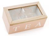 """Коробка-шкатулка """"I Love Tea"""" для чаю та цукру 2-х секційна 16x9x7см"""