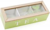 """Коробка-шкатулка """"I Love Tea"""" для чаю та цукру 3-х секційна 24x9x7см"""