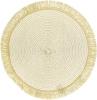 Набор 6 сервировочных ковриков Margrese Gold Ø38см (подтарельники)