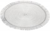 Набор 6 сервировочных ковриков Margrese Silver Ø38см (подтарельники)